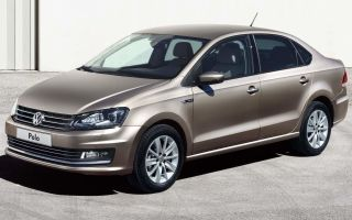 Передние и задние стойки на Volkswagen Polo седан